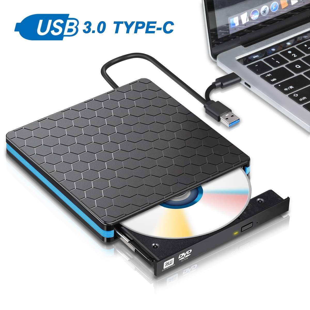 M Way Dual Port External DVD Burner AMAZON $14.99 free ship with prime