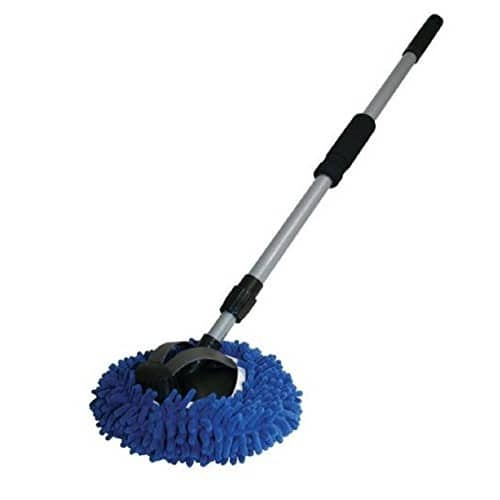 "AutoSpa 93303 9"" 2-in-1 Long Chenille Microfiber Wash Mop with 48"" Extension Pole  $12.73 Free ship with amazon prime"