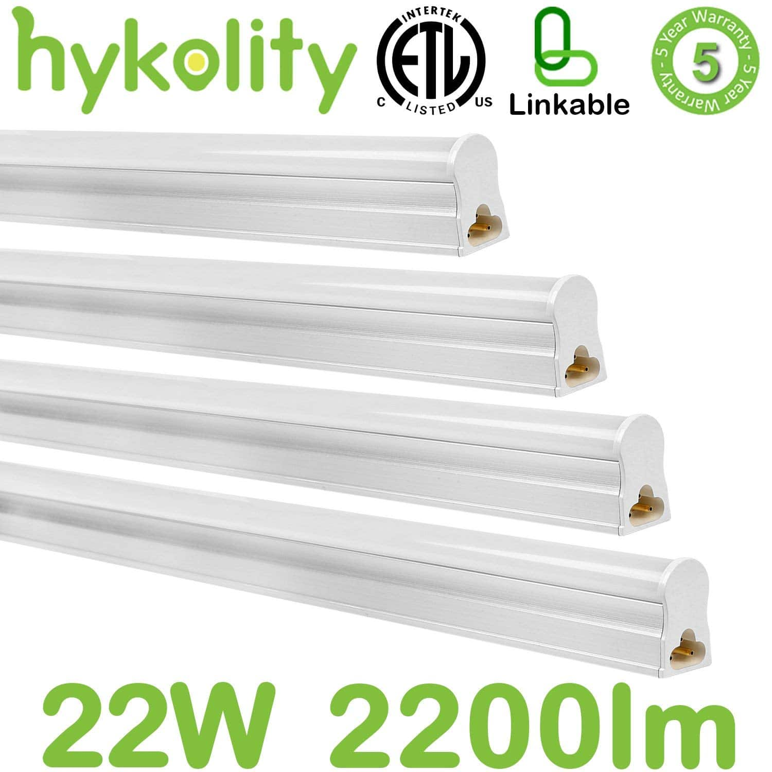 4ft 22W LED Flushmount Linkable Shop Light-4 pack $34.99
