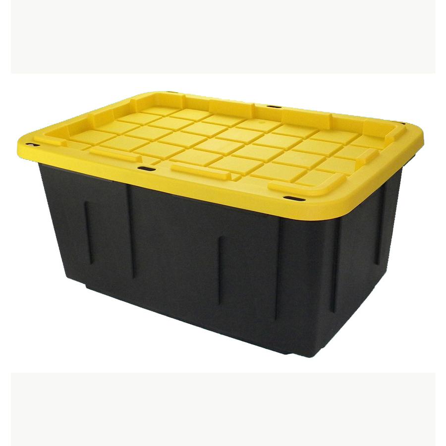 Lowes $8.48 Centrex Plastics, LLC Commander 27-Gallon Black Tote with Standard Snap Lid