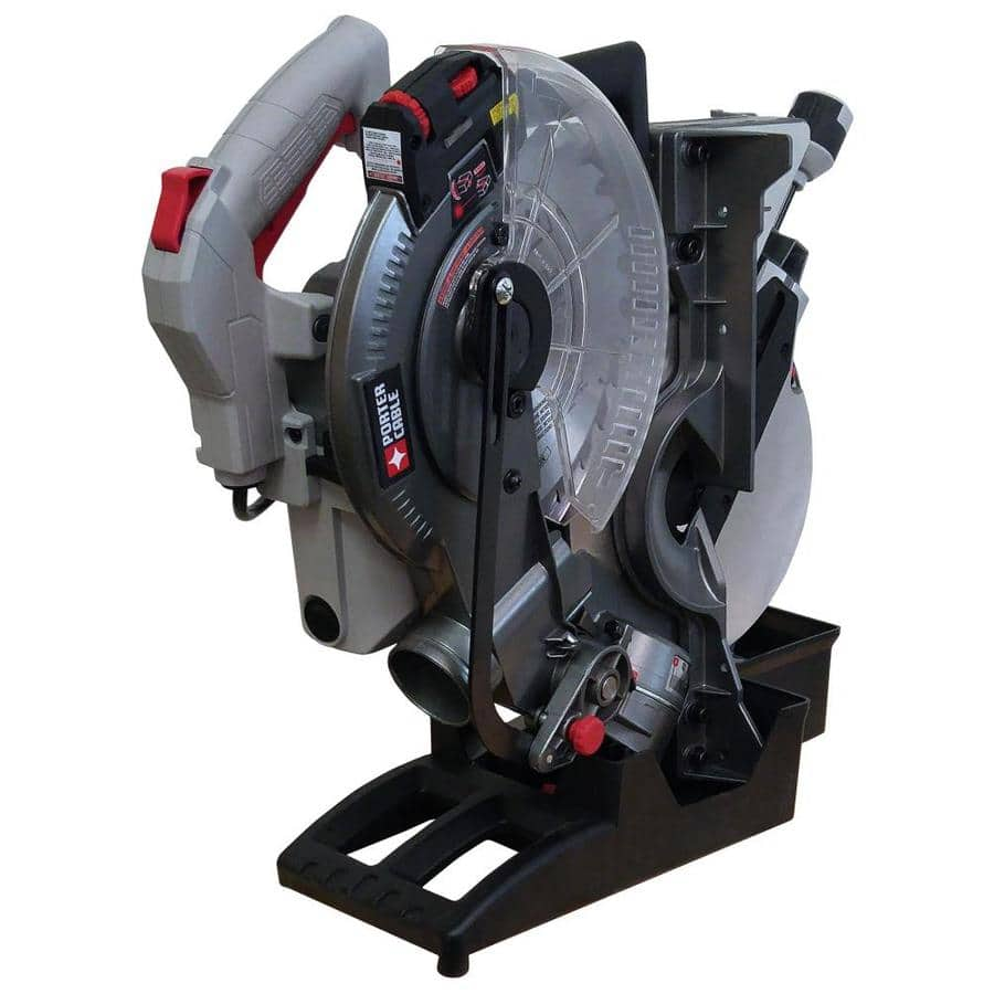 Lowes $99 PORTER-CABLE 10-in 15-Amp Single Bevel Laser Folding Compound Miter Saw