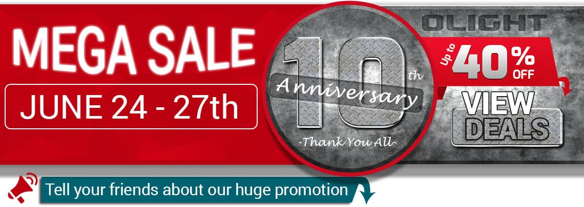 Olight 10 Year Anniversary Sale (20-40% Off almost everything)