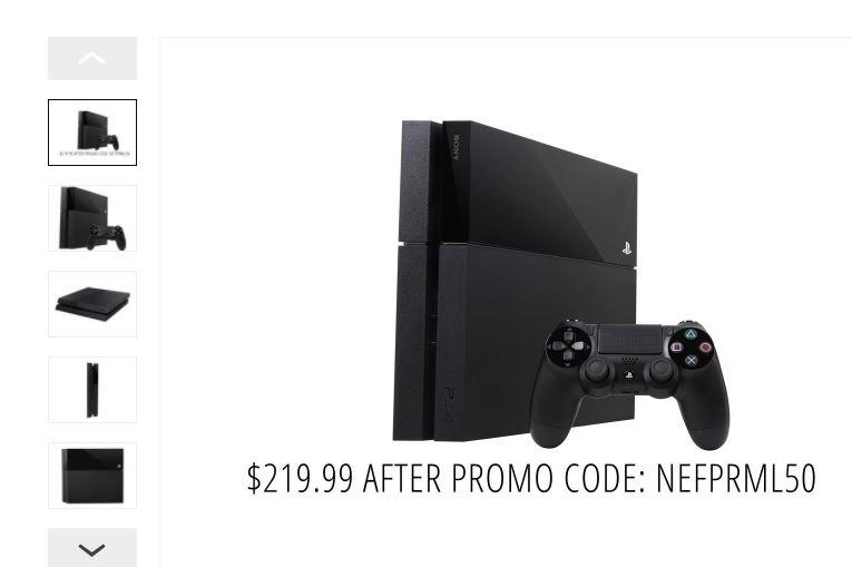 Newegg Flash PlayStation 4 Console - Rebox $219.99 After Promo Code: NEFPRML50