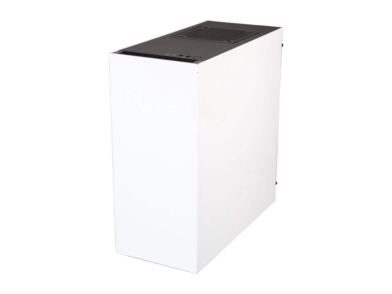 NZXT - S340 Mid Tower Case - Glossy White, MIR, $54.98