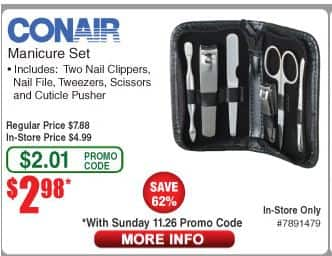 Conair Travel Smart® Manicure Set $2.98
