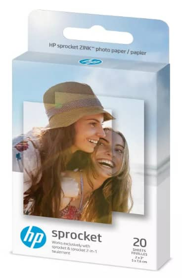 "HP Sprocket ZINK Photo Paper 2x3"" 20-count - $4.99 Target in-store only"