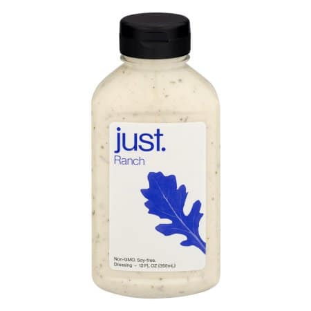 Just Ranch vegan ranch dressing 12 oz. 6 pack- $8. More Just. products 6 packs from $4