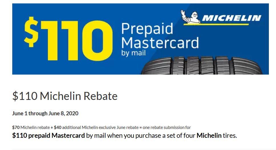 $110 Michelin Rebate (4 tires)-Discount Tire