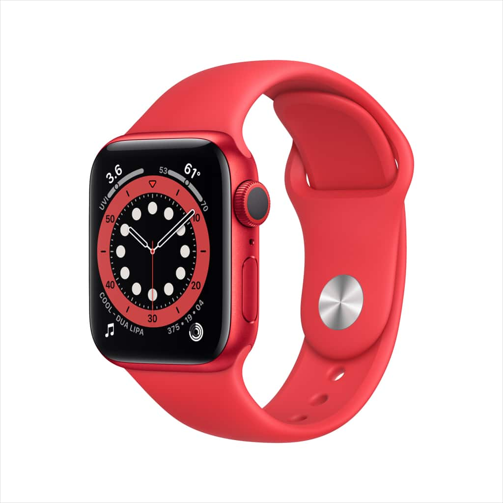 Apple Watch Series 6 GPS, 40mm PRODUCT(RED) Aluminum Case with Sport Band - Regular - Walmart.com - $329