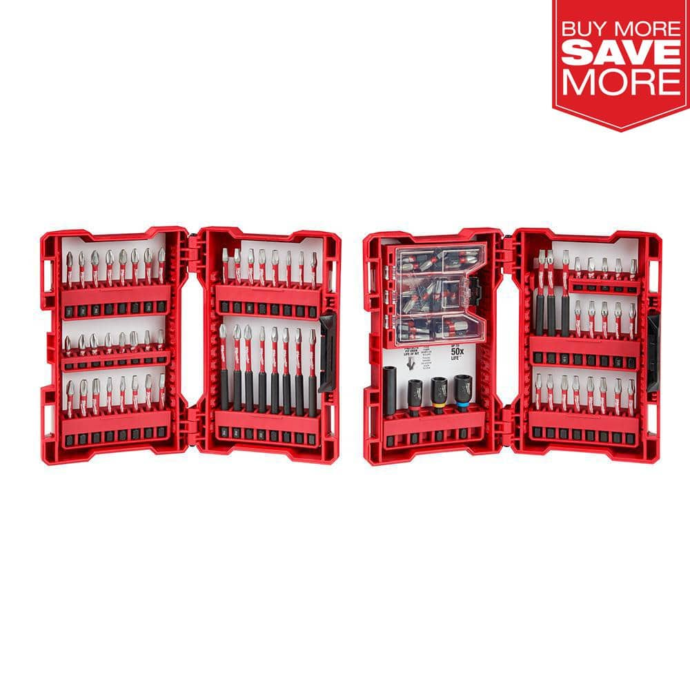 100-Piece Milwaukee SHOCKWAVE Impact-Duty Drill and Driver Bit Set $35