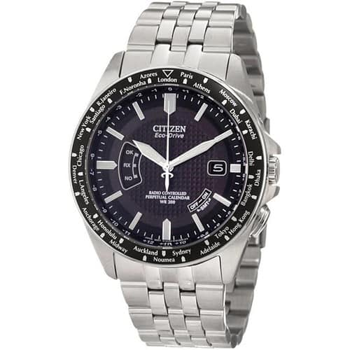 Citizen World Perpetual Atomic Radio Mens Eco-Drive Watch CB0020-50E $259.88