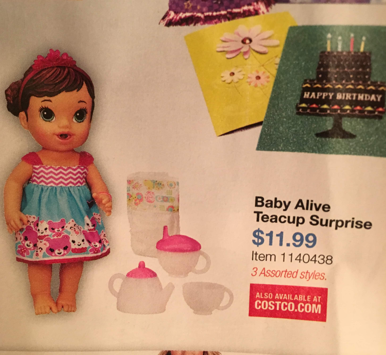 Costco - Baby Alive Teacup Surprise set $11.99