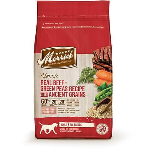 Merrick Classic Real Beef & Green Peas Recipe With Ancient Grains Dry Dog Food, 25 Lb $26.23