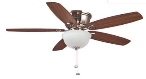 """52"""" Honeywell Eastover Ceiling Fan, Brushed Nickel YMMV Walmart regular price $74.97 and $19.00 in a couple of local stores."""