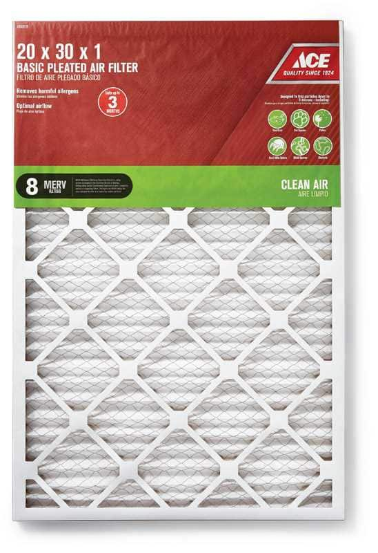 Ace Basic Pleated Furnace Air Filter B&M Only YMMV , 3 for $10