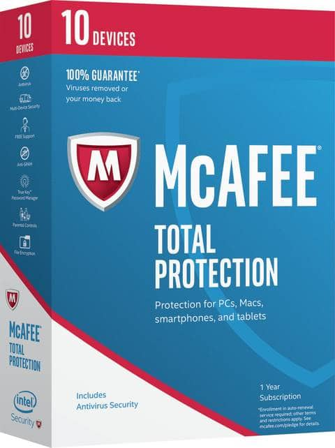 McAfee Total Protection 2017 - $19.99