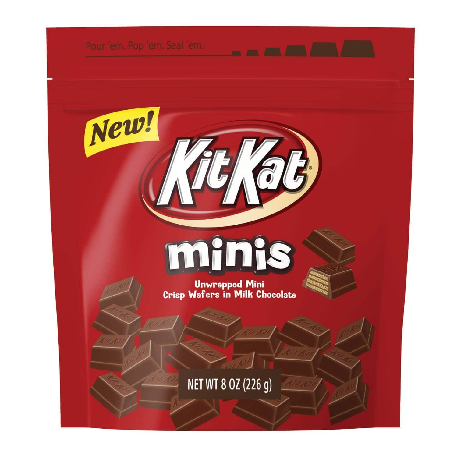 KIT KAT Minis Crisp Wafers in Milk Chocolate, (8-Ounce Pouch) $2.66 FS with Amazon Prime Member