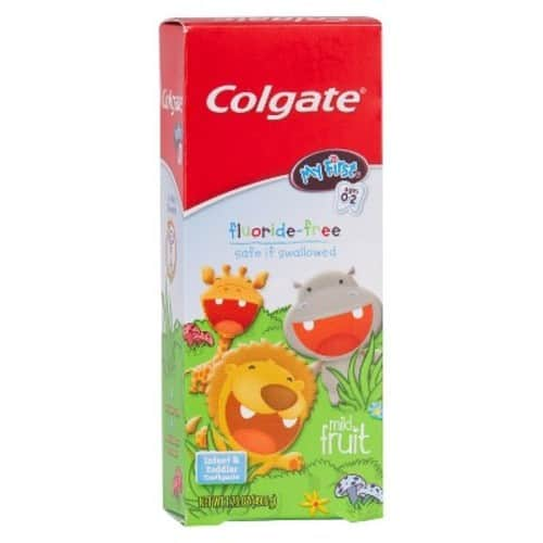 Colgate My First Baby and Toddler Toothpaste, Fluoride Free - 1.75 ounce (6 Pack) - $11.76 with Amazon Prime ; S&S