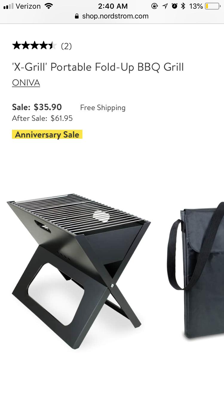X-Grill Portable Fold-Up BBQ Grill - Item #5041514