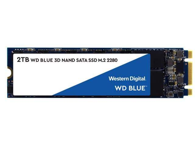 WD Blue 3D NAND 2TB 2.5 or M.2 ($179.99) Newegg