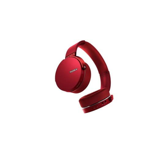Sony - Extra Bass Wireless Over-the-Ear Headphones - Red for $80