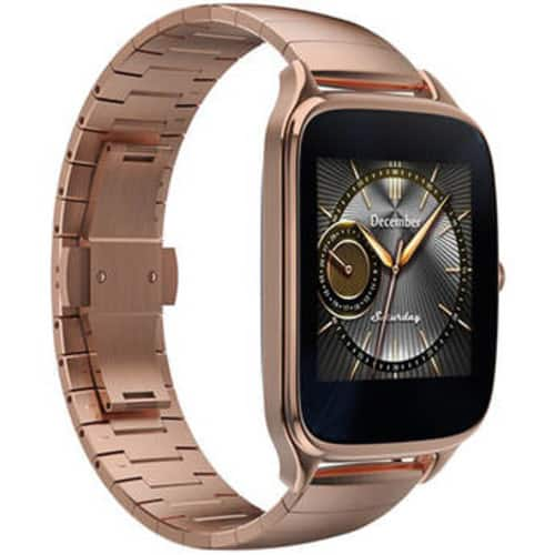 "Asus ZenWatch 2 1.63"" Smartwatch with HyperCharge (Gold Case, Gold Metal Band) $69"