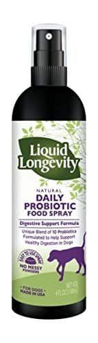 Natural Daily Liquid Probiotic Food Spray for Dogs - 20% off - Great Stocking Stuffer $15.16