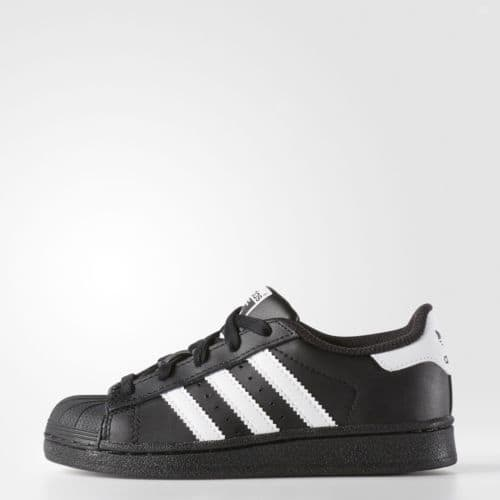 New adidas Originals Superstar Shoes D70186 Kids' Black Sneakers $19.99