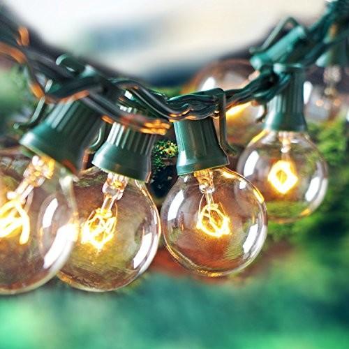 Escolite G40 String Lights Indoor Outdoor for Wedding Lights, Bedroom Lighting, Patio Lights $8.75