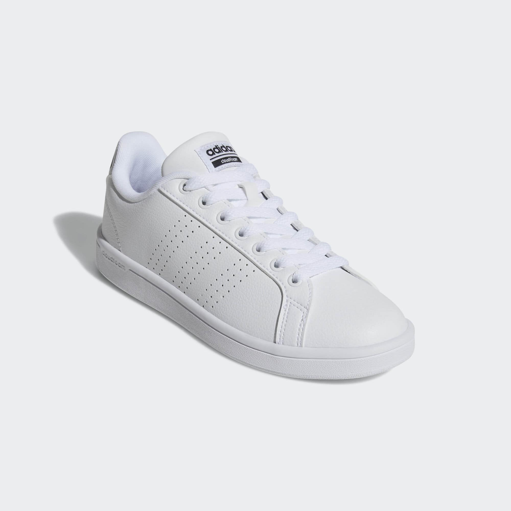 Adidas Cloudfoam Advantage Clean Shoes Women's White + Free