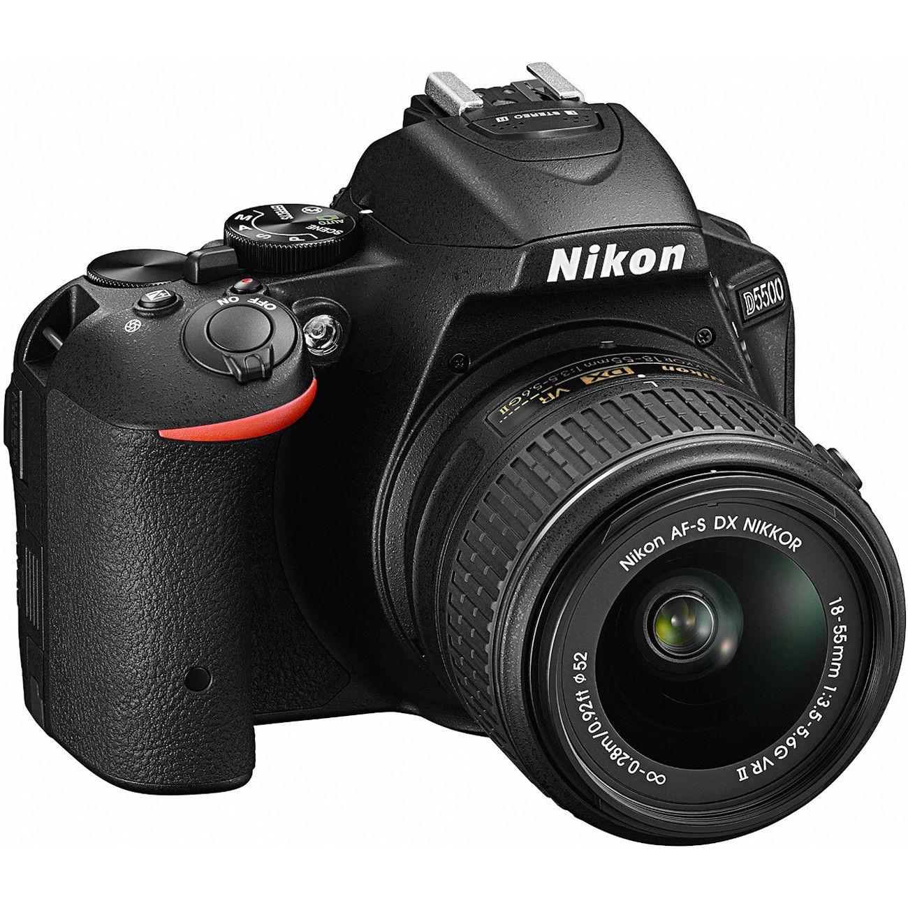 Nikon D5500 DX-format Digital SLR w/ 18-55mm VR II (Refurbished)  + Free shipping $449.99