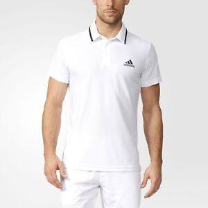 Two adidas Essex Polo Shirt Men's White + free shipping $30