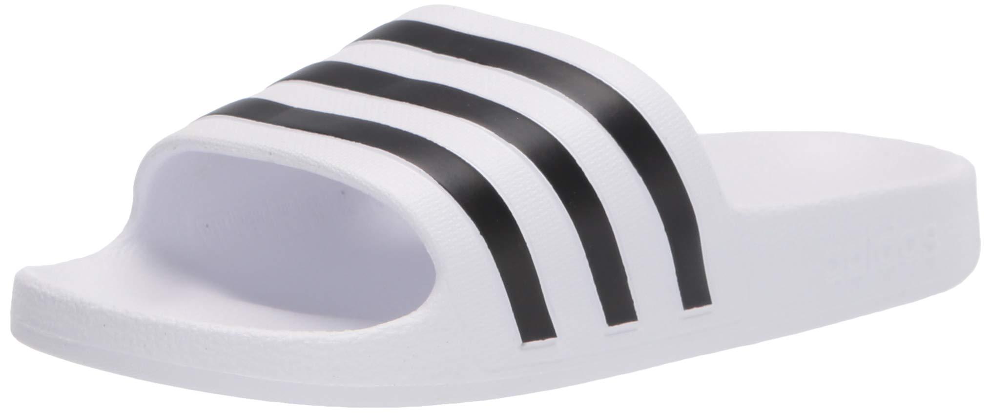 adidas Men's or Women's Adilette Aqua Slide Sandal (white/core black/white) $13 + Free shipping w/ Prime or on orders over $25
