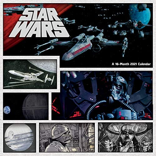 """DateWorks Star Wars 2021 Wall Calendar (11.5"""" x 11.5"""") $2.48 + free shipping w/ Prime or on orders over $25"""