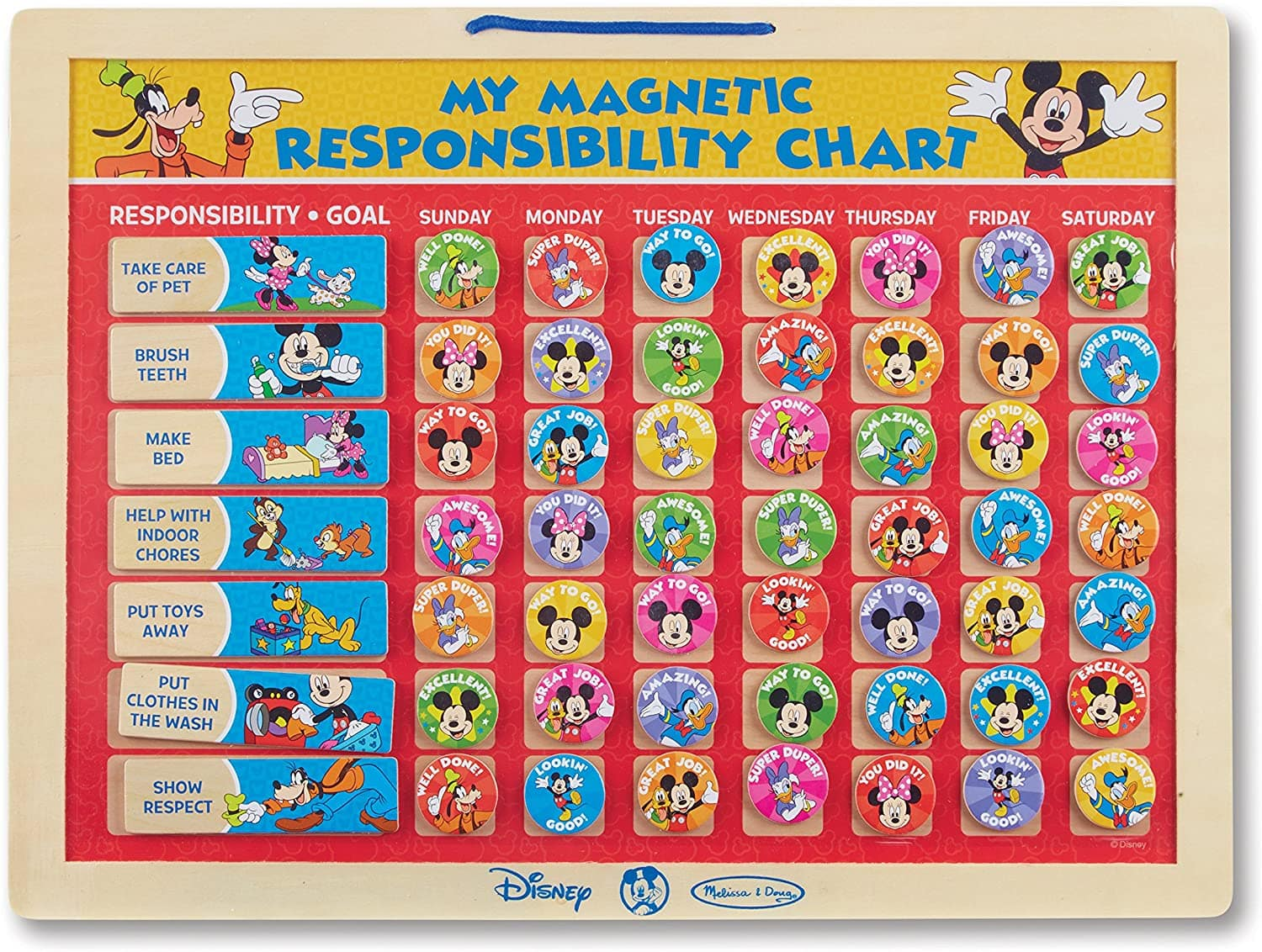 Melissa & Doug Disney Mickey Mouse Clubhouse My Magnetic Responsibility Chart $10 + free shipping w/ Prime or on orders over $25