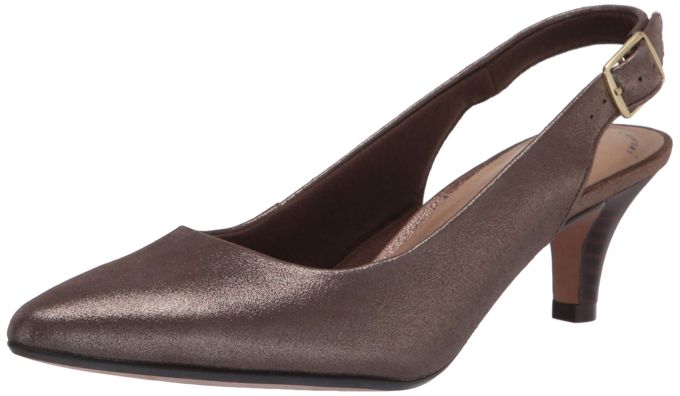 Clarks Women's Linvale Sondra Pump (Metallic Leather) $17 + free shipping w/ Prime or on orders over $25
