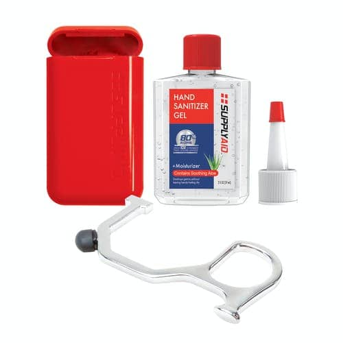 SupplyAID No-Touch Smart Utility Hand Key Tool w/ Sanitizing Box, 2-Oz Gel Hand Sanitizer and Fill Nozzle Tip $0.57 + free shipping