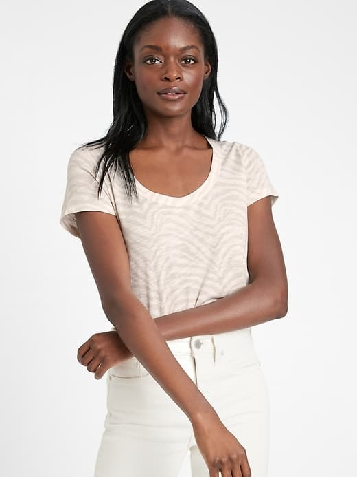 Banana Republic Women's Slub Cotton-Modal T-Shirt $4, Satin Twisted Maxi Dress (loch green) $20, Men's Core Temp Mesh Half-Zip T-Shirt (black, oatmeal) $14, More + FS on $50+