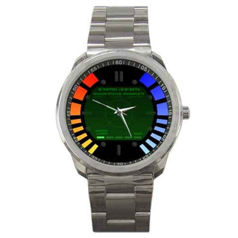 Men's James Bond 007 Goldeneye Replica (or Custom Image) Sport Metal Watch $6 (New Customers Only)