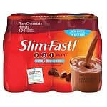 8-Pack Slim-Fast! 3-2-1 Ready To Drink (10-Oz): Creamy Milk Chocolate $5.50, Rich Chocolate Royale
