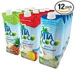 12-pack of 16.9-Oz Vita Coco Pure Coconut Water: Variety Pack (Natural, Mango and Peach, Pineapple)