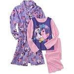 3-Piece Kids' Character Thermal Underwear Sets: Angry Bird $8, DC Comics Batman $8, Spiderman $8, 3-Piece Kids' Character Pajama and Robe Sets: Angry Bird $13, My Little Pony $13