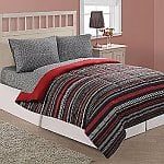 Essential Home Microfiber Comforter in Twin or Full/Queen (Various Patterns) $10.80, Coordinating Microfiber Sheet Set in Twin, Full or Queen $10.40