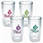 2x 4-Pack of 16-Oz Tervis Holiday Tumblers: Christmas Lights, Holiday, Holiday Flamingo, or Festive Flip Flop