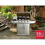 Char-Broil 4-Burner Stainless Steel Infrared Grill w/ Side Burner