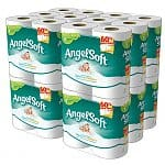 Household Essentials: Buy 4 Get 1 Free: 240-Ct Angel Soft Double Rolls Toilet Paper