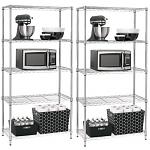 2-Pack Room Essentials 5-Tier Shelving (Chrome)