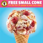 National Ice Cream Day / Month Offers: Carvel Buy 1 Get 1 Soft Serve Cup or Cone (July 19), Baskin Robbins 31% Off All Sundaes (July 31), Friendlys B1G1 Cone (July 18),More