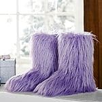 Pottery Barn Teen Fur-Riffic Faux Fur Booties $10 + free shipping