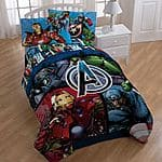 Disney Frozen Melt My Heart Reversible Comforter  (Twin/Full) $23.62, Marvel Avengers Reversible or Disney Olaf Comforter (Twin/Full) $18.25 + free store pickup at Kohls